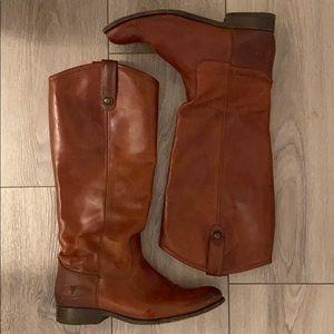 Frye Melissa Button Cognac Boots